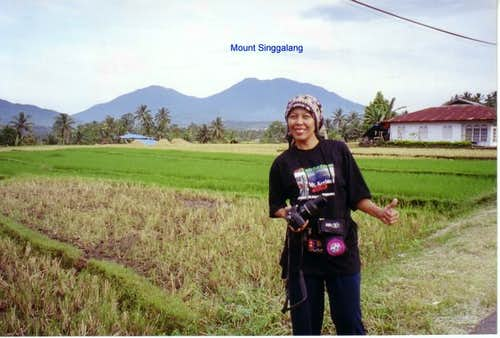 Background of Mount Singgalang