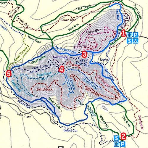 Levis Mound Trails Map, courtesy Clark County Parks Dept.