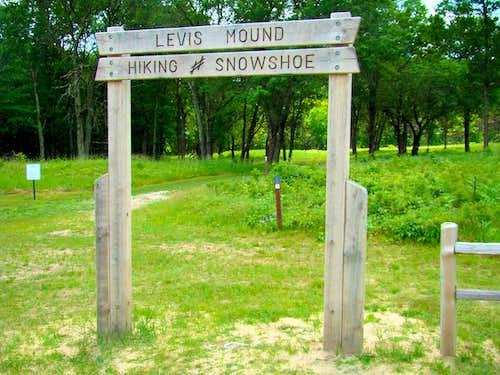 Levis Mound Main Trailhead
