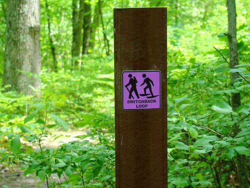 Typical Trail Sign on Levis Mound