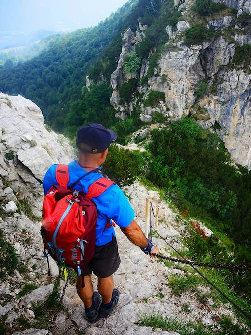 The summit rocks on Sisilla Normal route