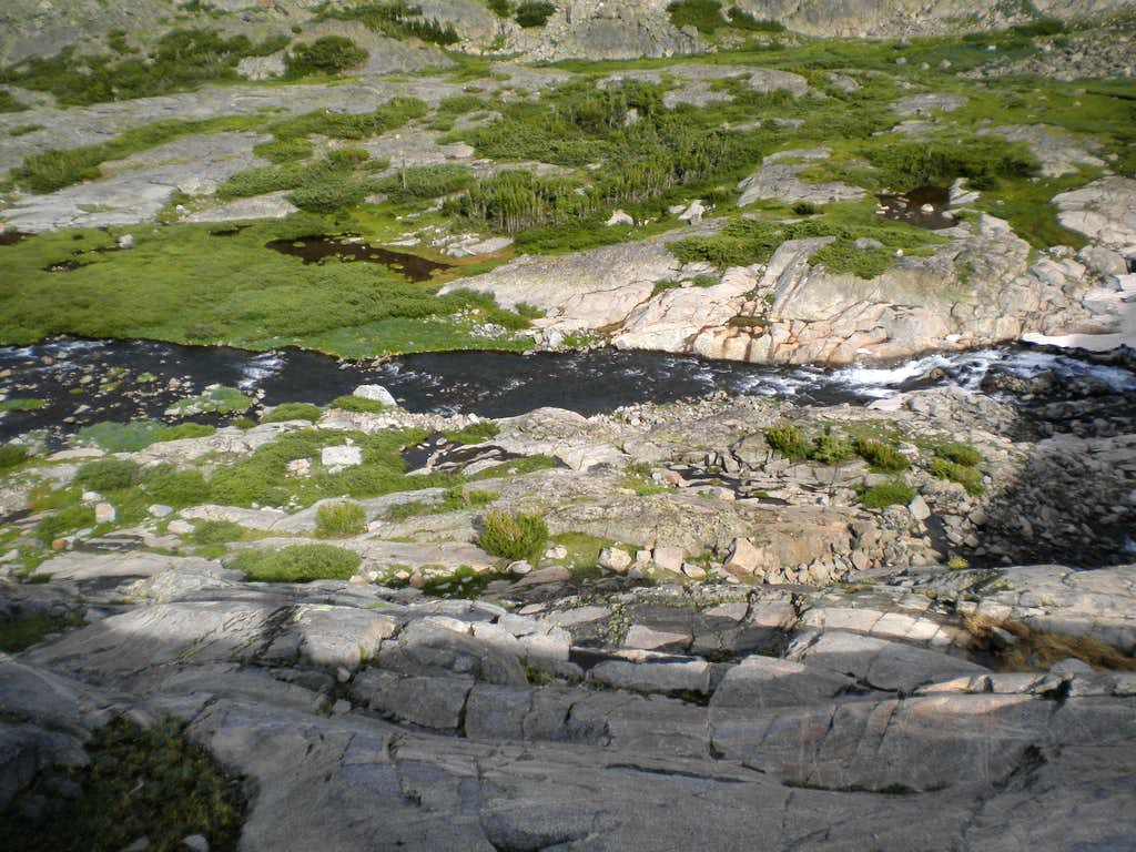 Creek Crossing viewed from above on slabs