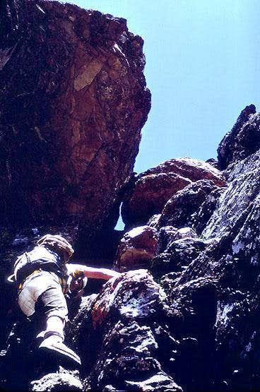 Thin Man's Pleasure Route, E Face,  Mount Wilbur