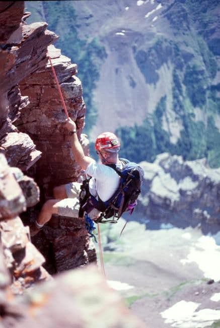 1st rappel on north-south...
