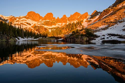 Zodiac Ridge Reflection in Willow Lake