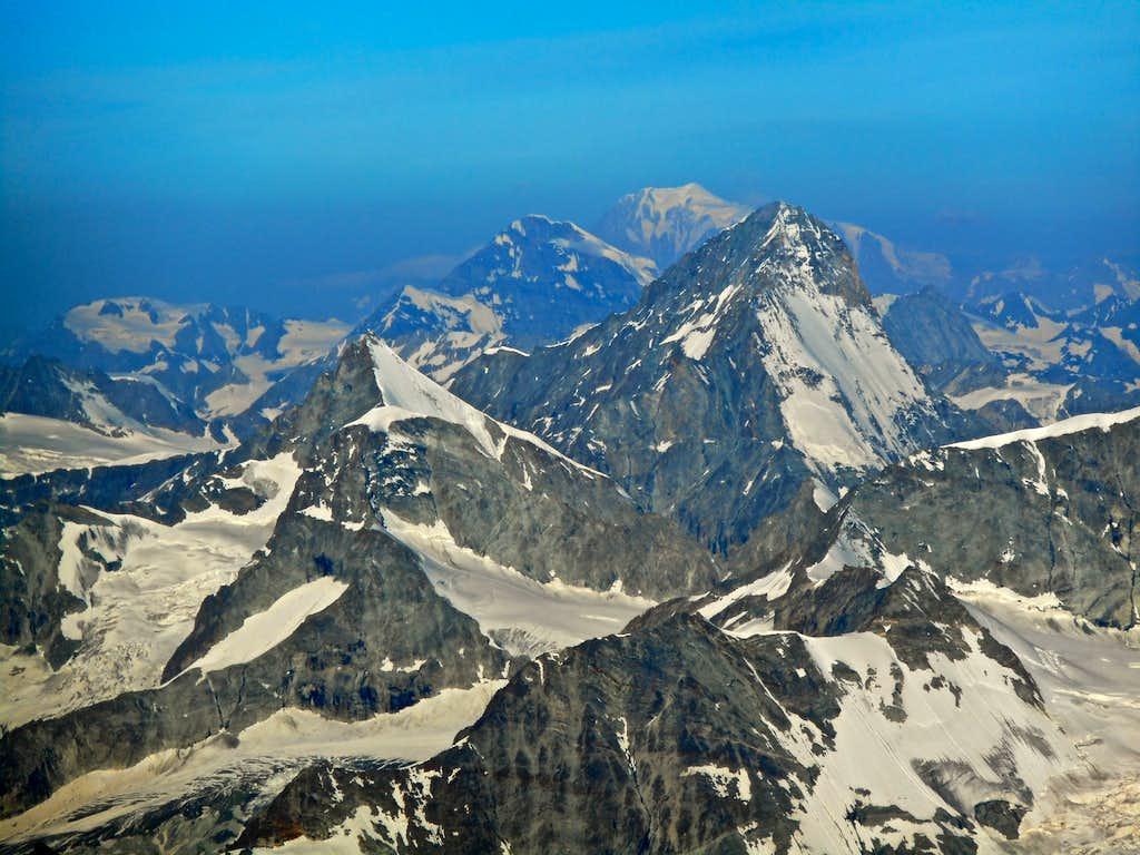 Ober Gabelhorn, Grand Combin, Mont Blanc, Dent Blanche
