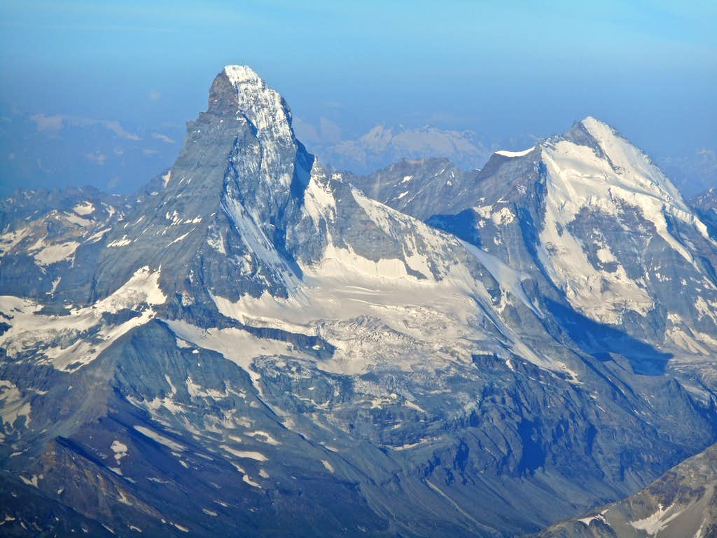 Matterhorn and Dent d'Herens from Dom summit