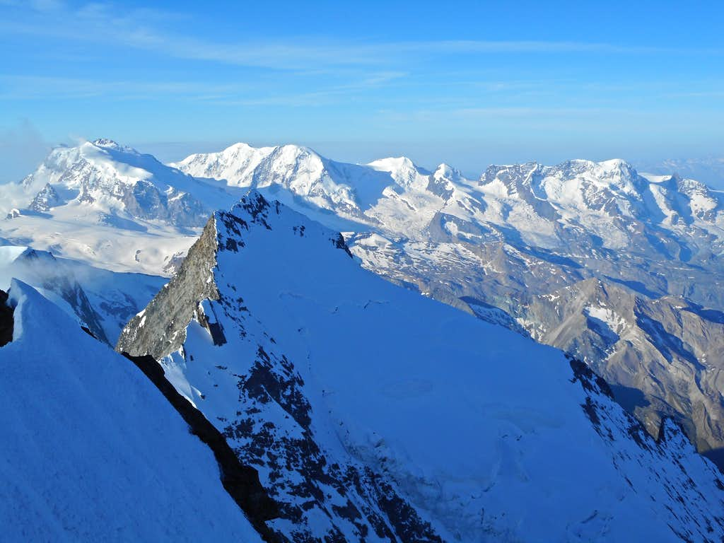 Taschhorn, Monte Rosa, Liskamm, Castor, Pollux, Breithorn
