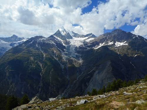 Weisshorn from just above the Europa hut