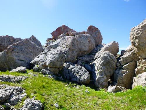 Antelope Butte summit blocks