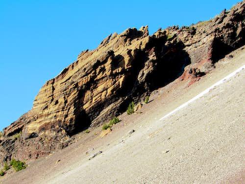Mt. Thielsen - west slope 1500' below summit viewed from trail