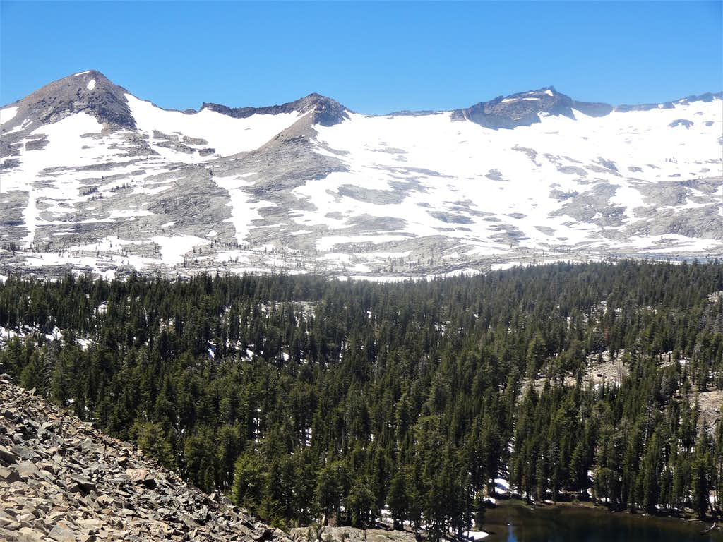 The Crystal Range Mountains in Desolation Wilderness
