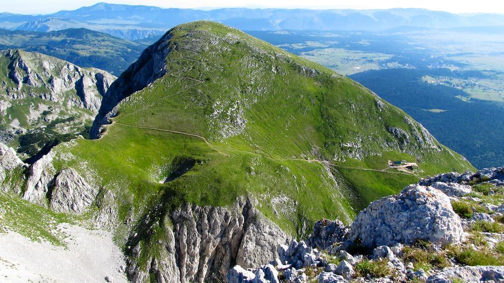 Savin Kuk seen from Šljeme slopes