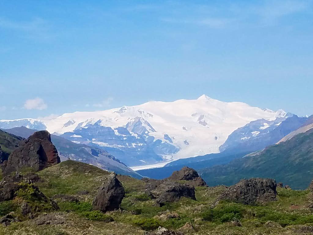 Regal Mountain closeup from Skolai Creek