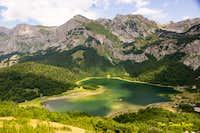 Trnovacko Lake view from Trnovacki Durmitor k
