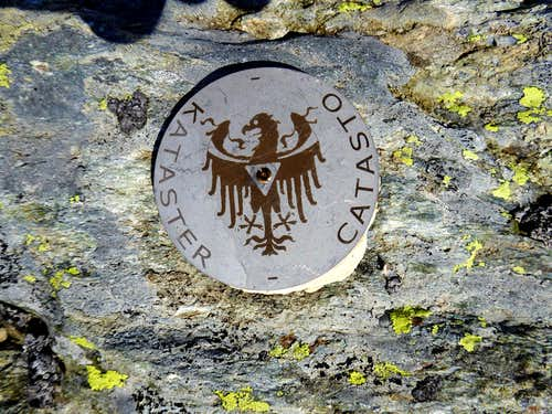 Benchmark on the summit of Picco Palù