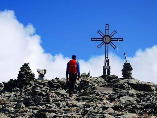 Reaching the top of Picco Palù