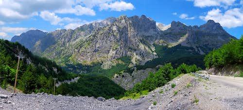 View from Qafë Thorë