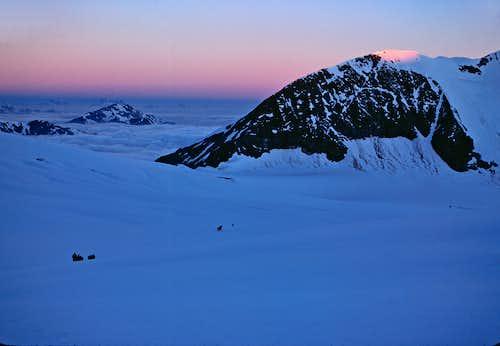 Daybreak on Turtmann glacier