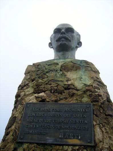 José Marti on top of Pico...