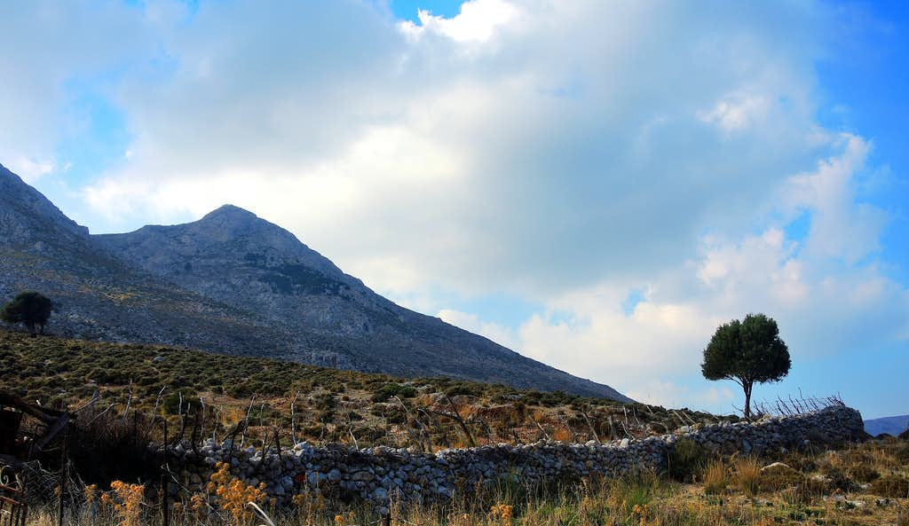 Profitis Ilias seen from Vathy Valley