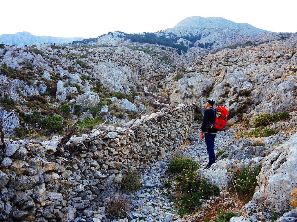 Trail along the Vathy Valley,  Kalymnos