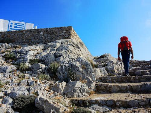 Profitis Ilias - The last section up to the summit monastery