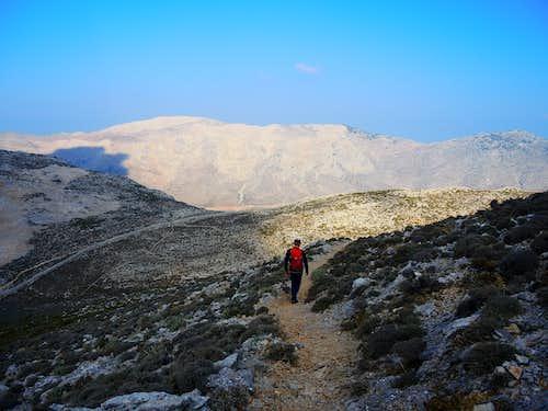 Profitis Ilias, toward the col above the Vathy Valley