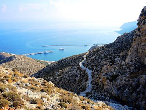The Italian Path above Pothia, Kalymnos