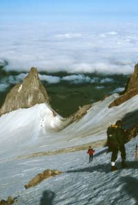 Mt.Hood - Descending to campsite beneath Illumination Rock