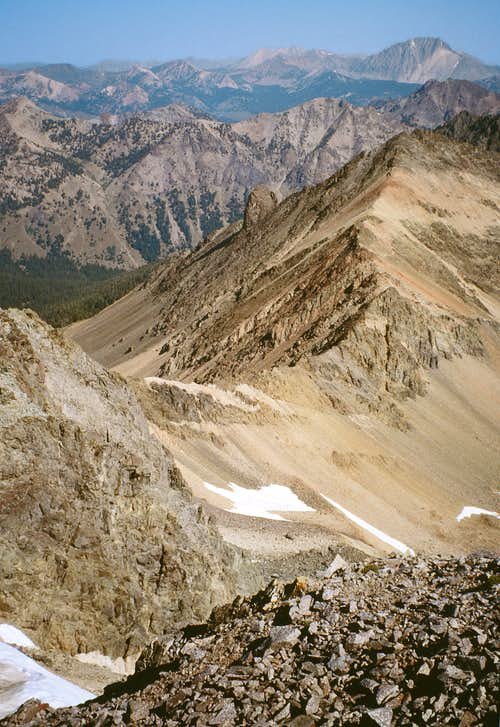 Summit photo - looking north toward Castle Peak