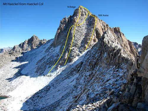 Mt Haeckle North Side Routes