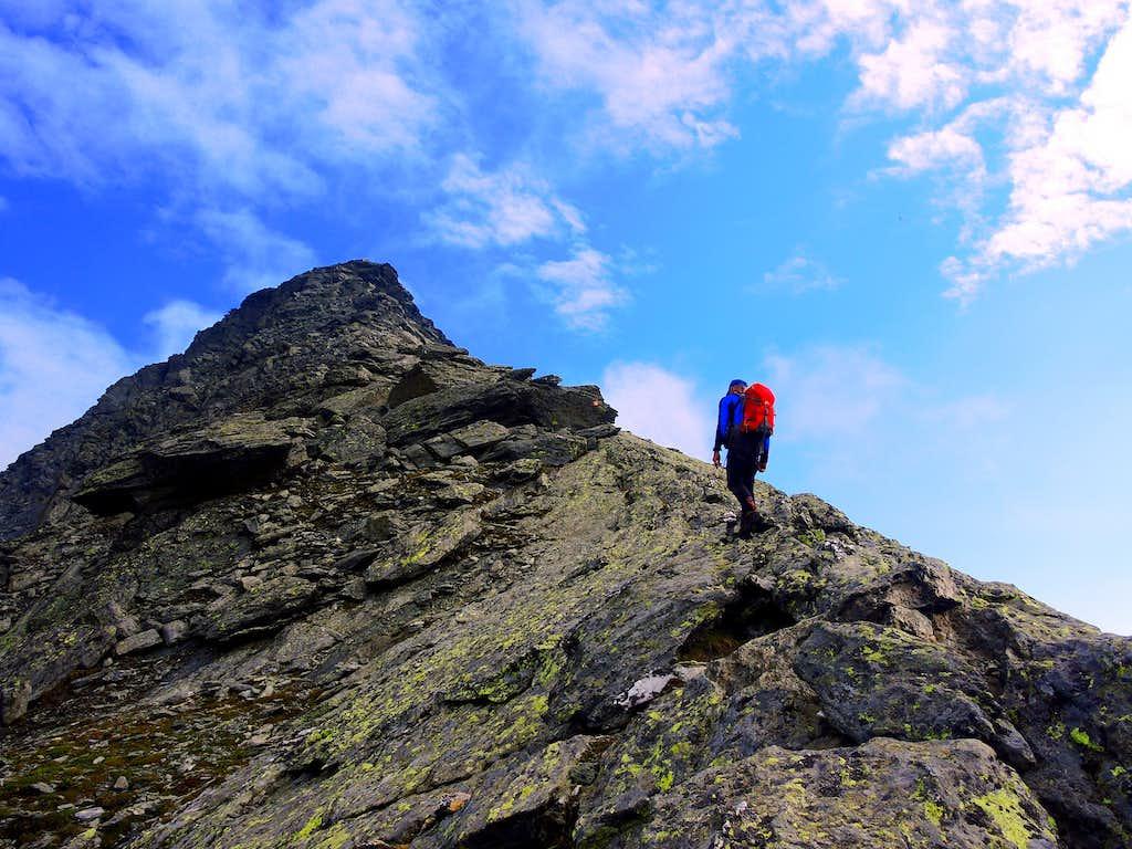 Picco Palù summit ridge