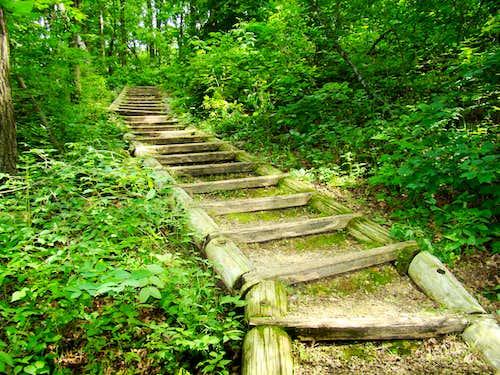 Blue Mound Flintrock Trail Stairway