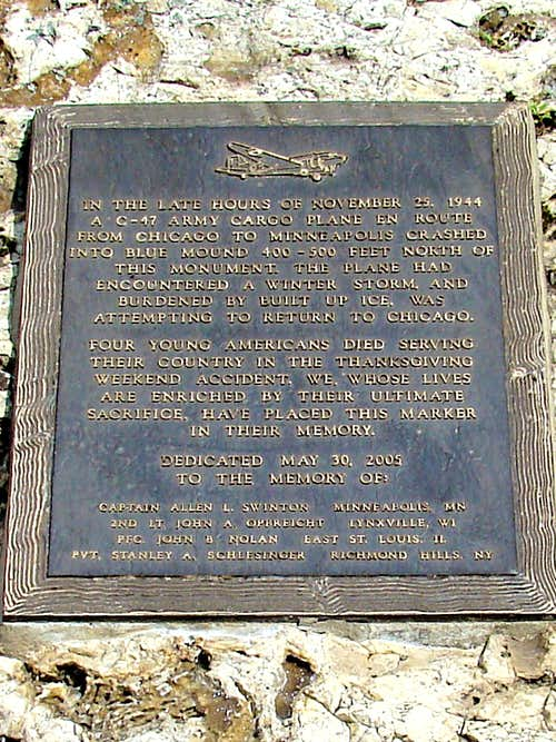 Blue Mound Plane Crash Memorial