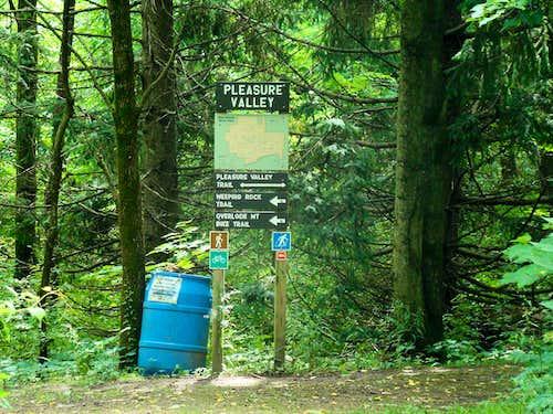 Blue Mound Eastern Trailhead