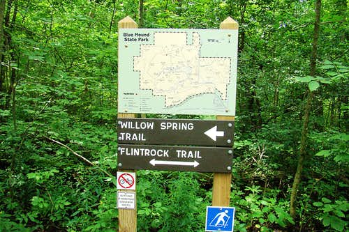 Blue Mound Willow Spring Trail Junction