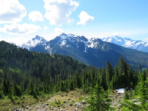 Mt. Shuksan and the two summits of Goat Mountain