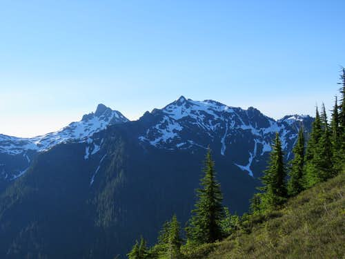 The two summits of Goat Mountain