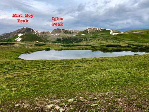 Mountain Boy and Igloo Peaks