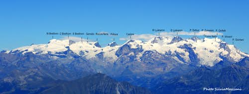 The parade of Monte Rosa 4000s