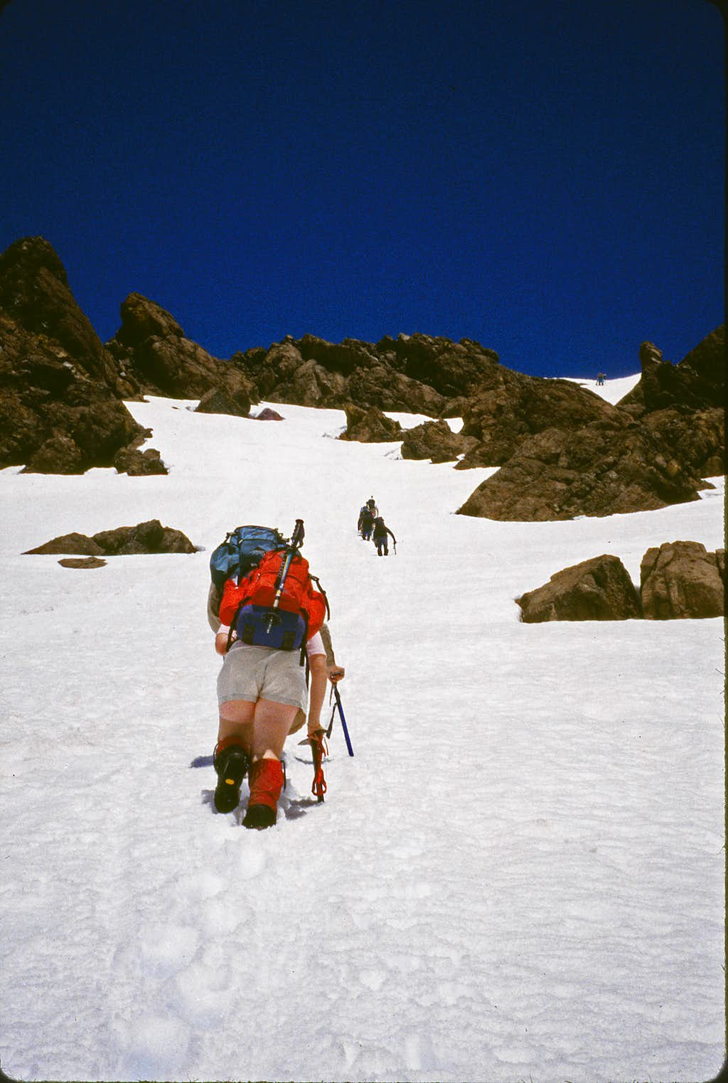 South Ingalls - climbing the southeast snow slope