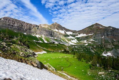 Purple Peak and Afley Peak