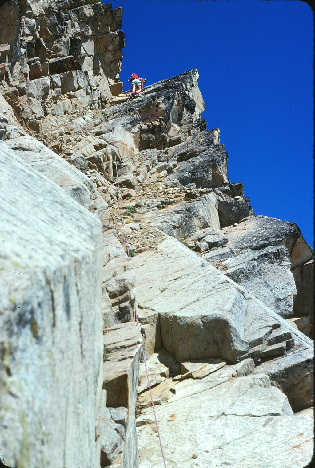 North Peak - tackling the East Face ramp