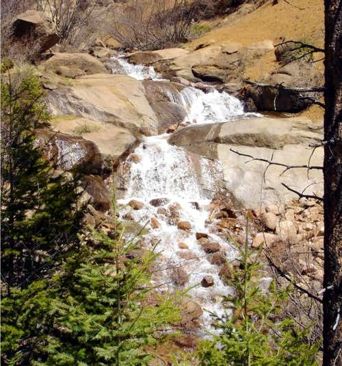 Falls along North Cheyenne...