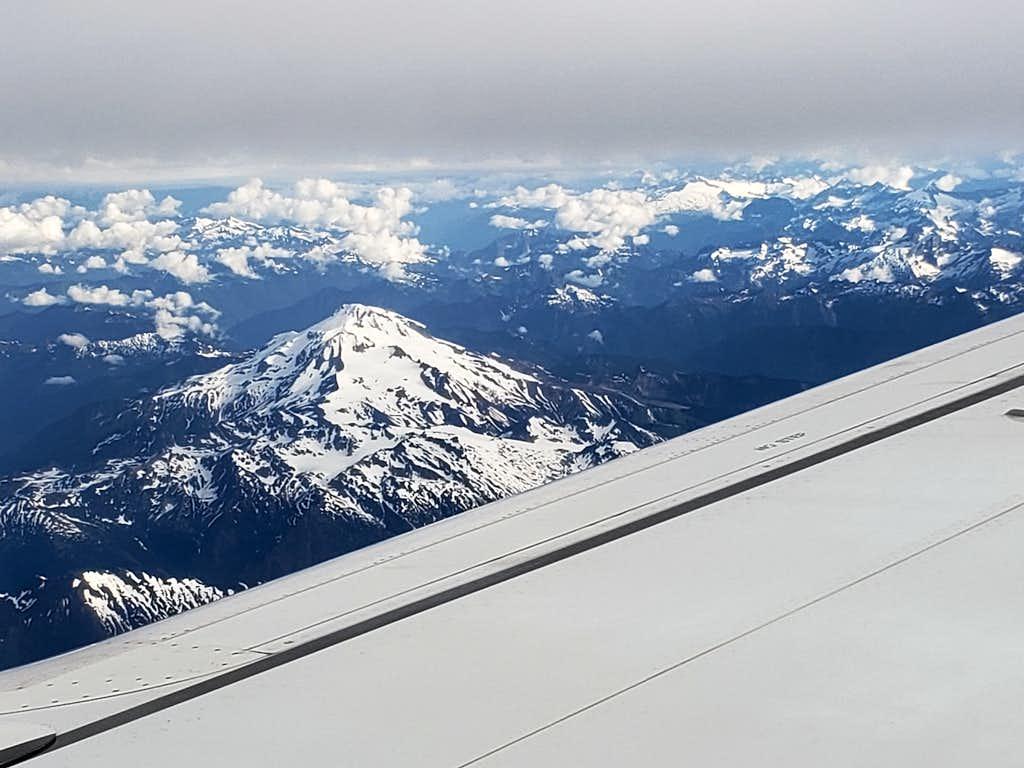 Glacier Peak from airplane