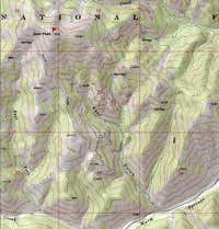 Bear Peak is indicated by a...