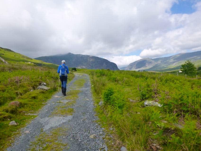 14. Ken travels along the Old road to Ogwen