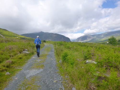 14. Ken travels along the Old road to Ogwen