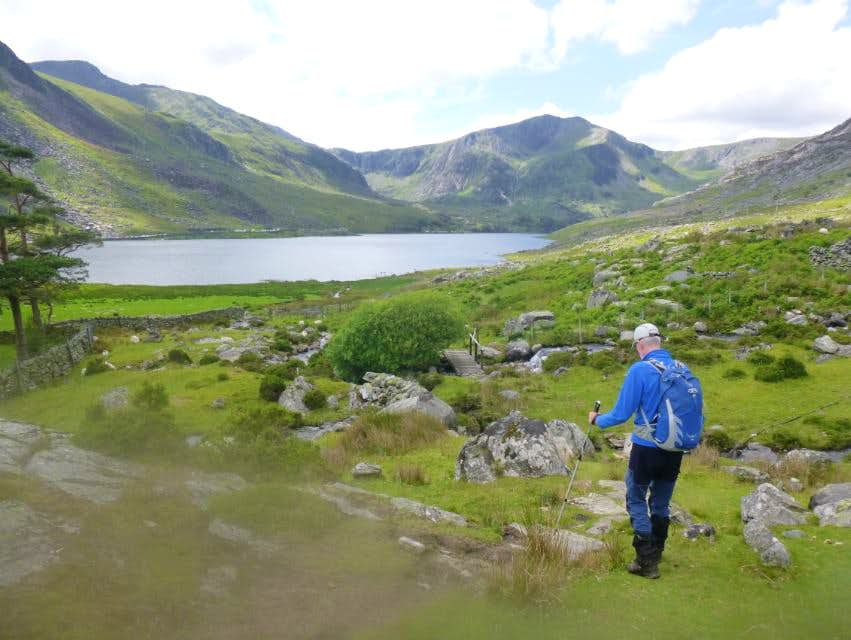 18. Ken on the path to Idwal Cottage